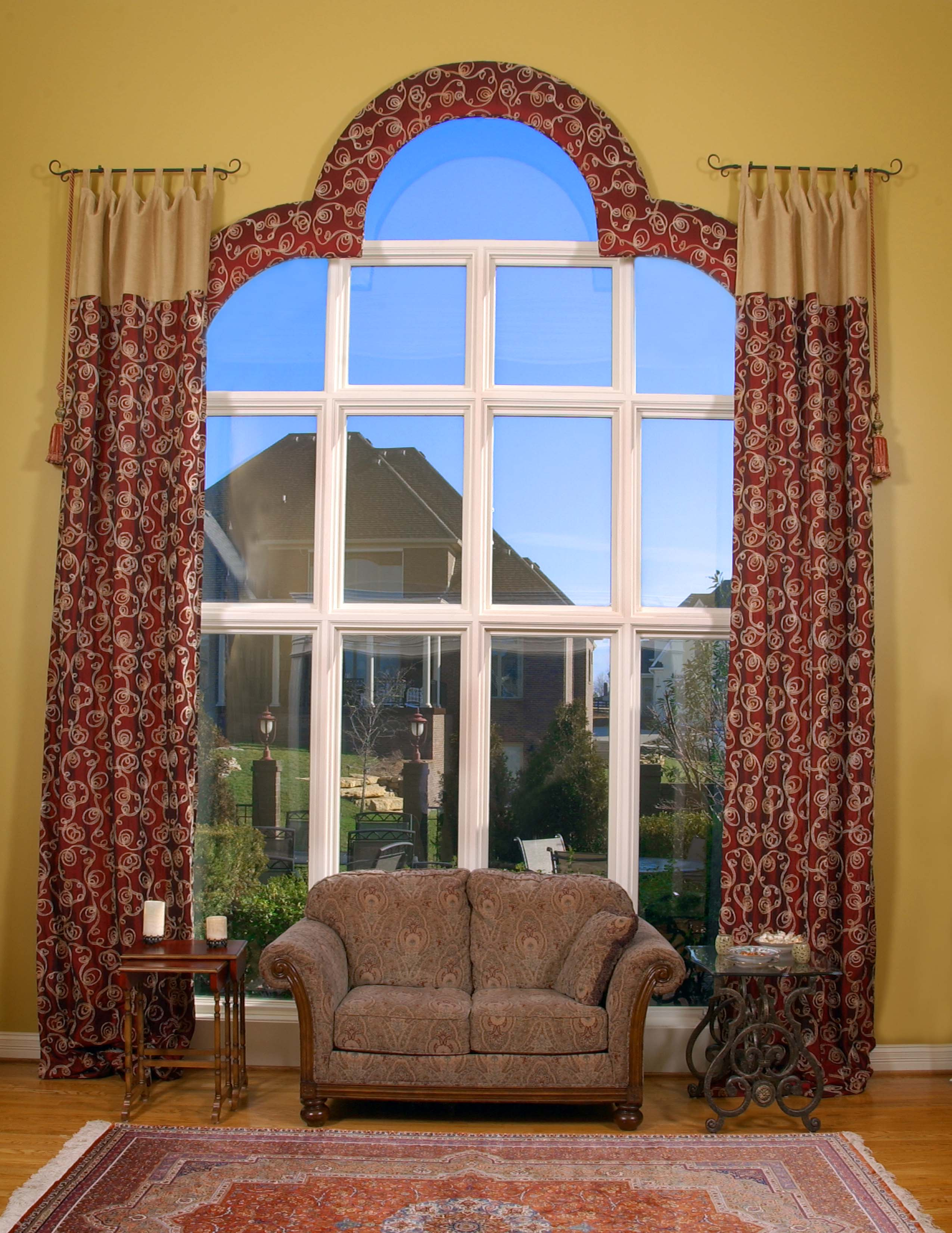 Custom window treatments for arched windows - Custom Window Treatments Louisville Ky Leave A Comment